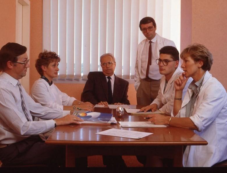 1988 : Réunion de travail avec la DSV