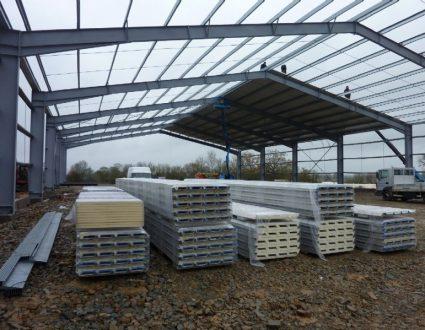Agrandissement des entrepôts frigorifiques de Maine Agrotec