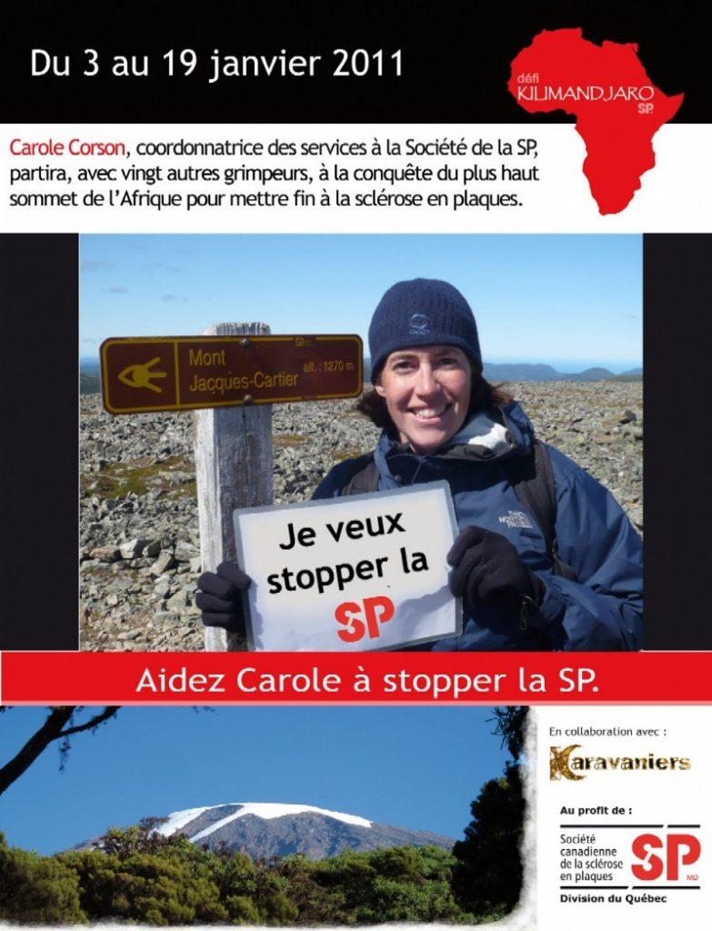 Maine Agrotec encourage le défi Québécois qui luttera contre la sclérose en plaques : 24 grimpeurs graviront le Kilimandjaro en Janvier 2011