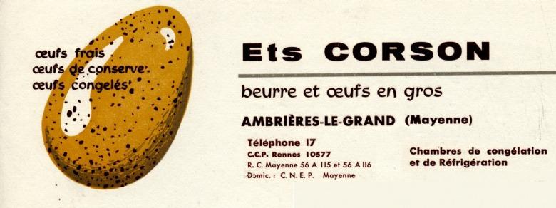 1945 : Jean Corson négociant en oeufs de conserve