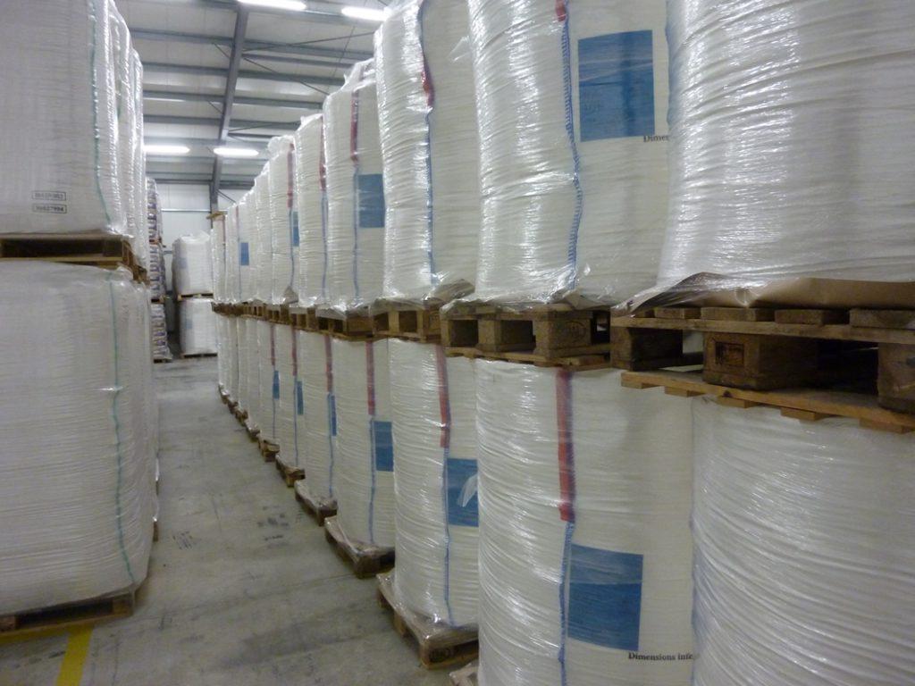 Entreposage de poudre de lait bigbag
