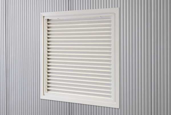 Fenetres grille ventilation Grille alu fixe 970*920