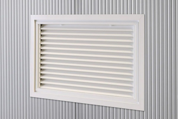 Fenetres grille ventilation Grille alu fixe 970*600