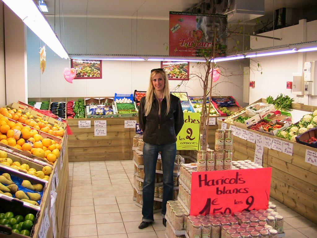 Local vente de fruits et légumes