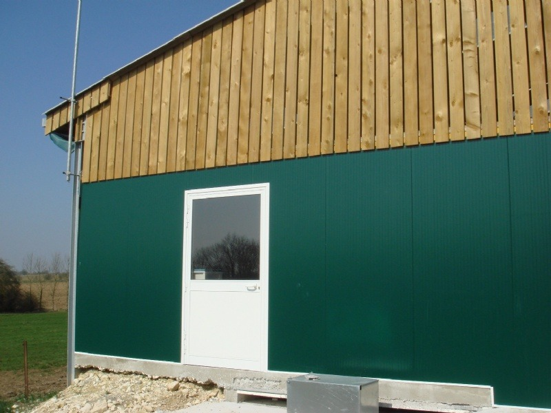 Isolation laiterie en panneaux verts 60 mm