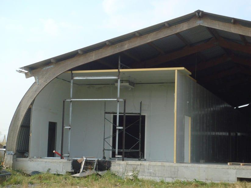 Réalisation quai climatisé, panneaux 60 mm