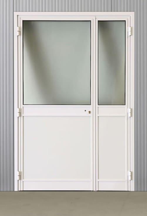 Portes pivotantes alu vitrées 1400*2160