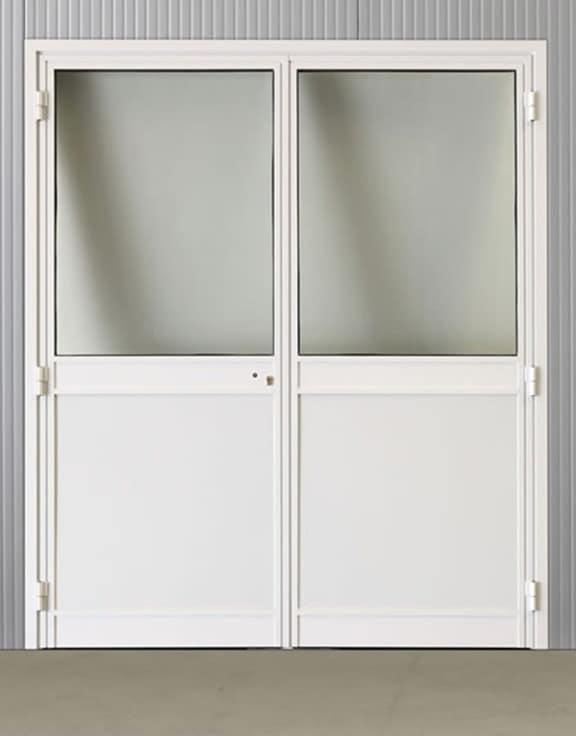 Portes pivotantes alu vitrées 1800*2160