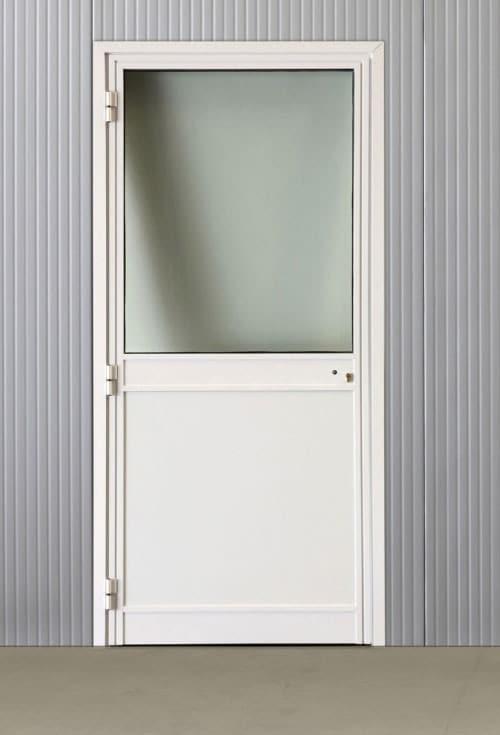 Portes pivotantes alu vitrées 820*2060