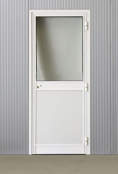 Portes pivotantes alu vitrées 970*2160